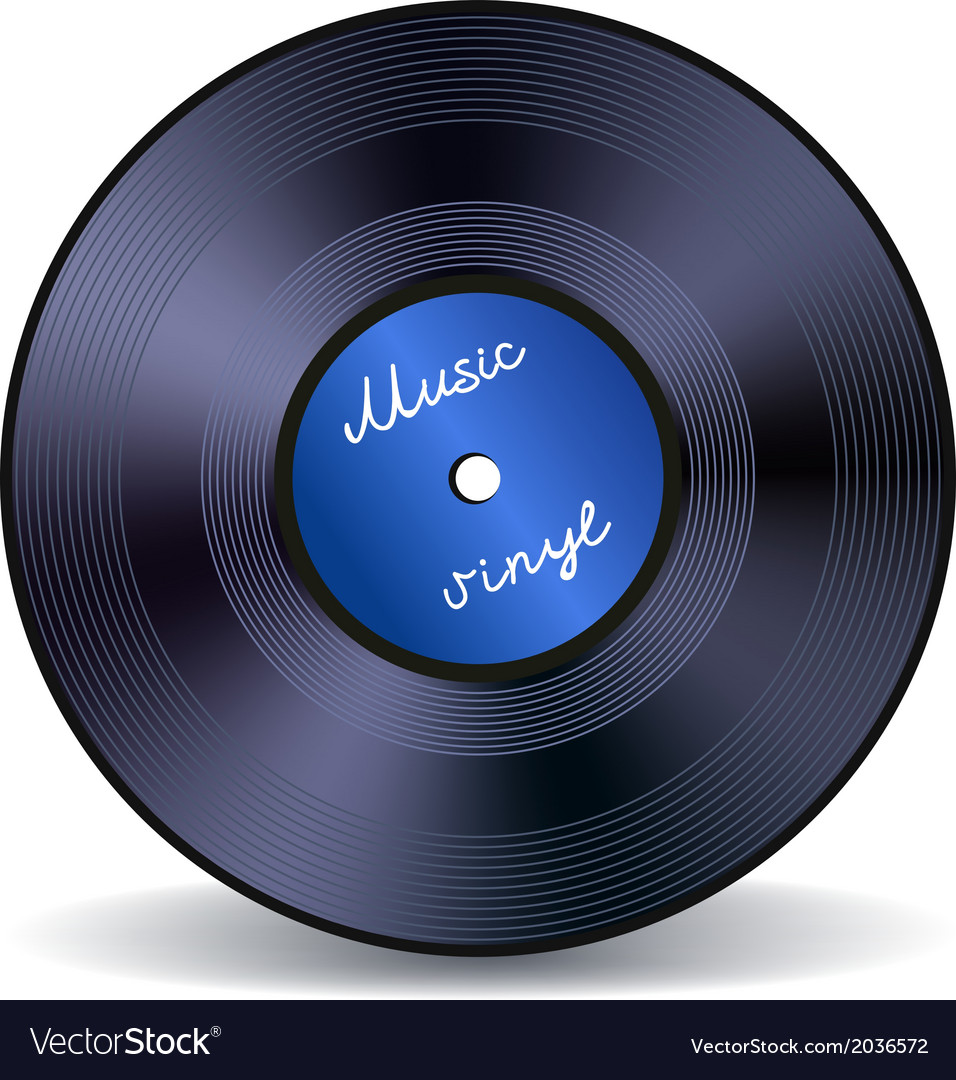 Retro vinyl music record emblem