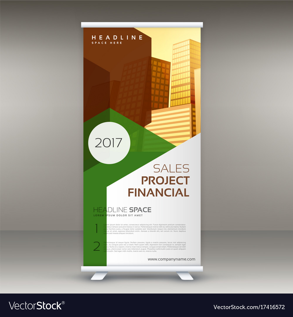 Rollup Design Template Vertical Standee Royalty Free Vector