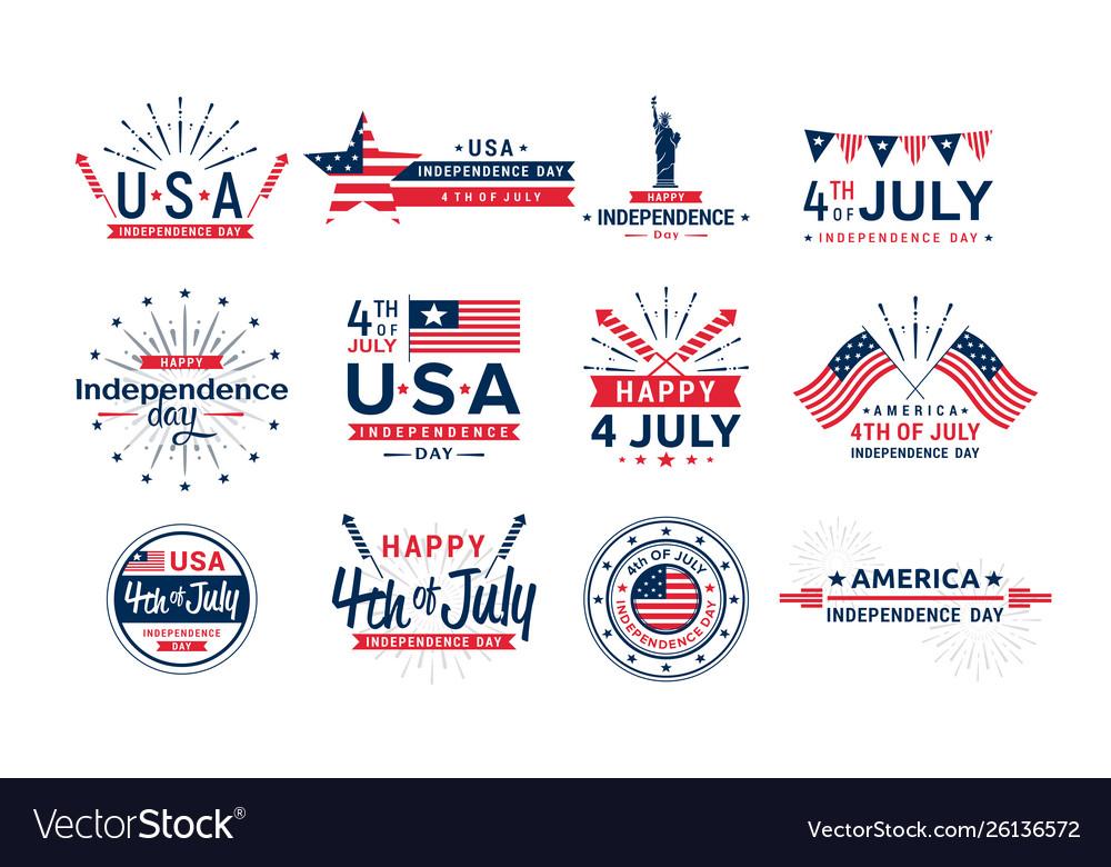 Set 4th july icons