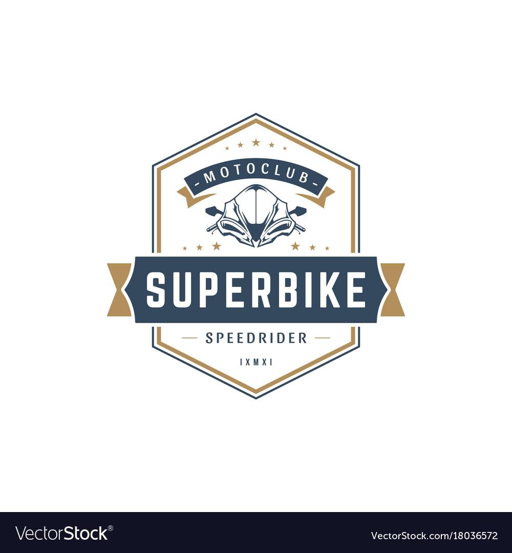 Sport motorcycle logo template design