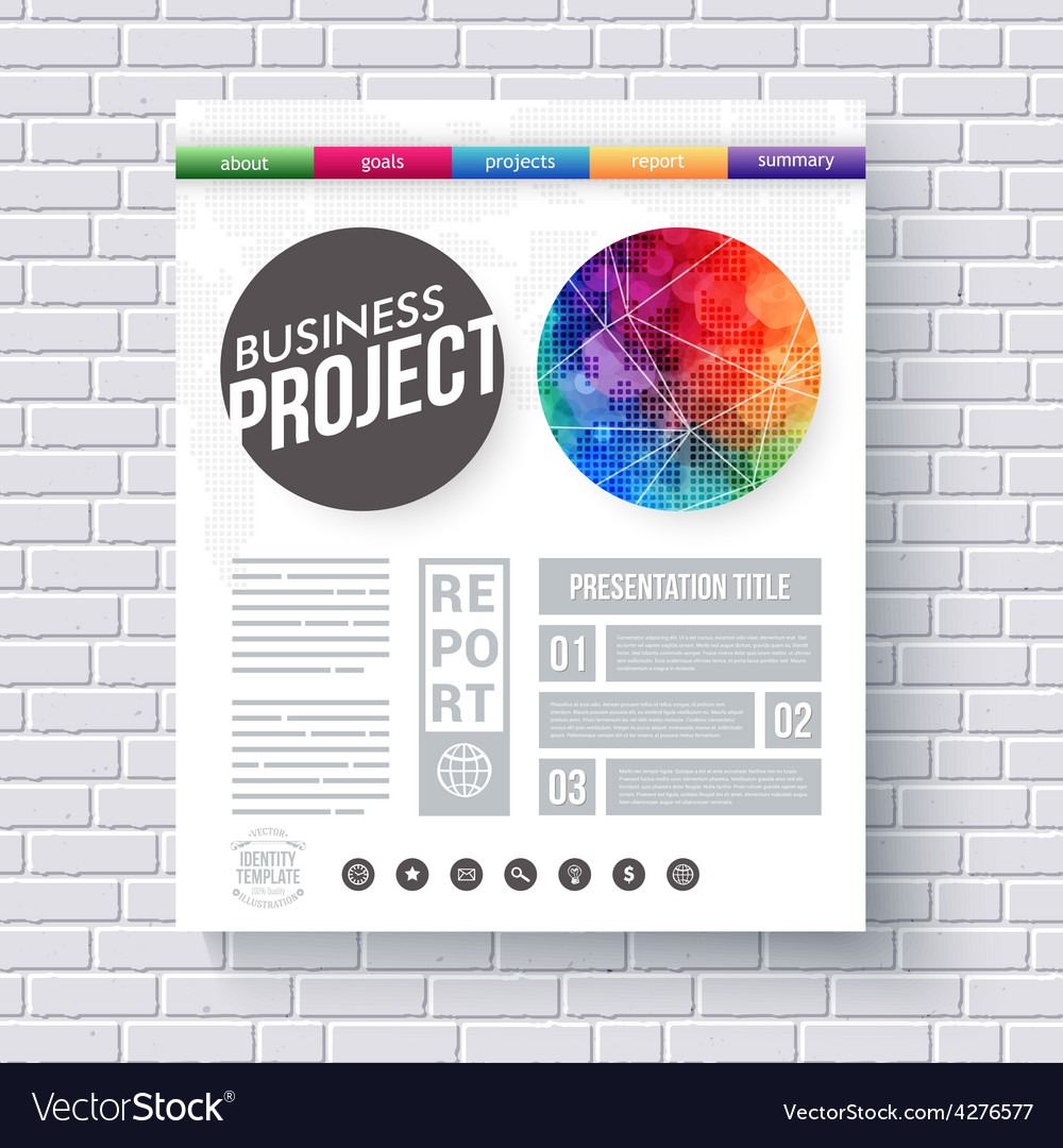 artistic design template for a business project vector image