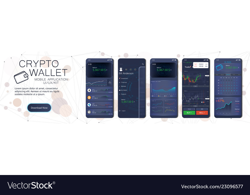 Crypto wallet mobile app template