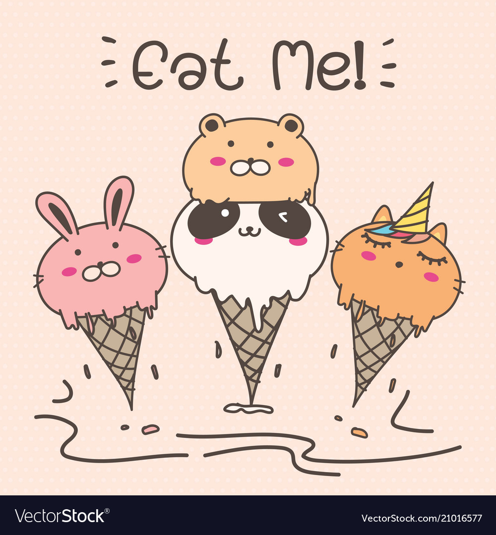 Cute animal ice cream