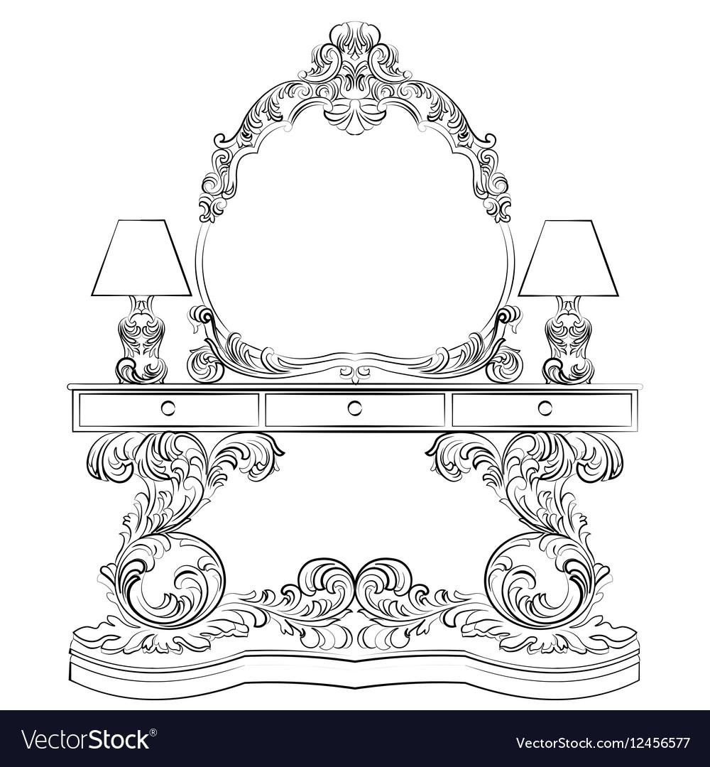 Glamorous Fabulous Baroque Rococo table