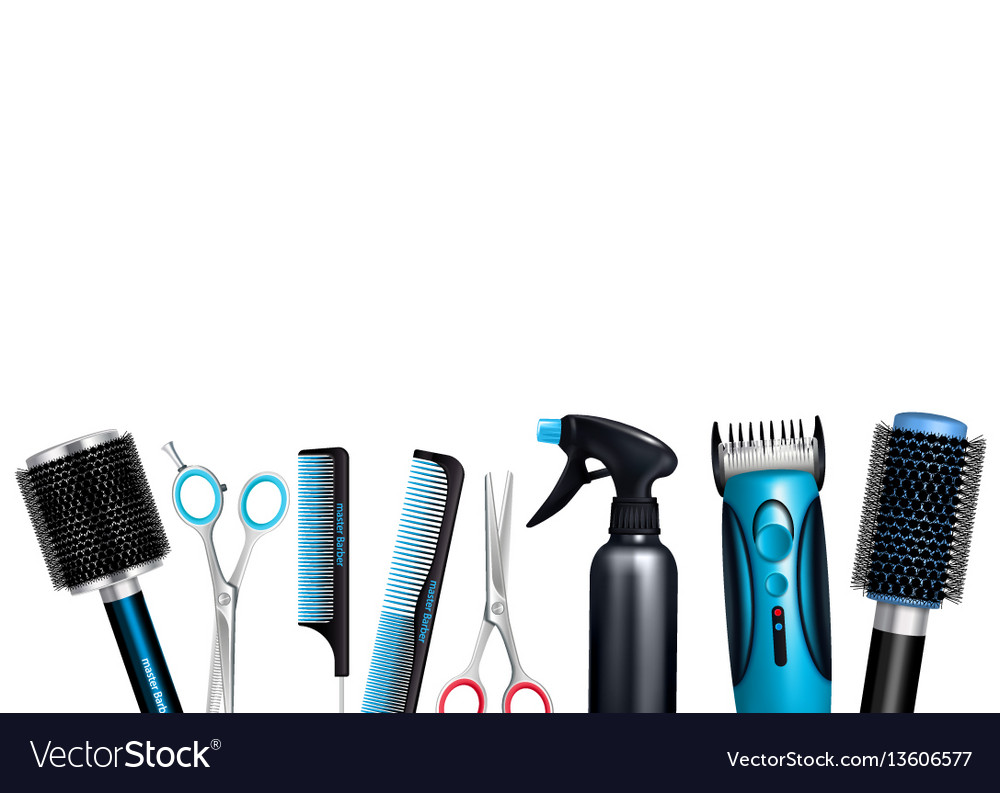 Hairdresser tools background