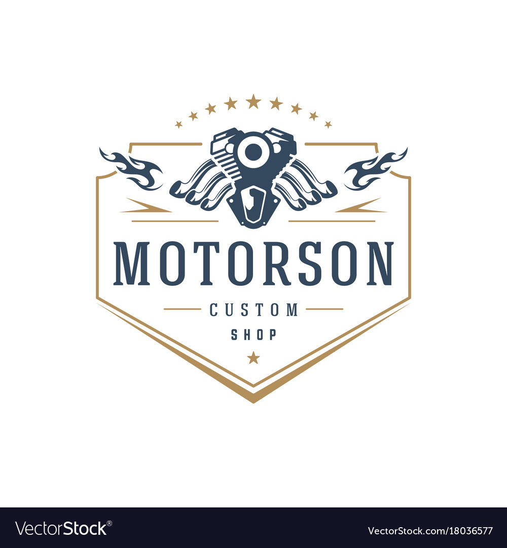 Moto club logo template design element