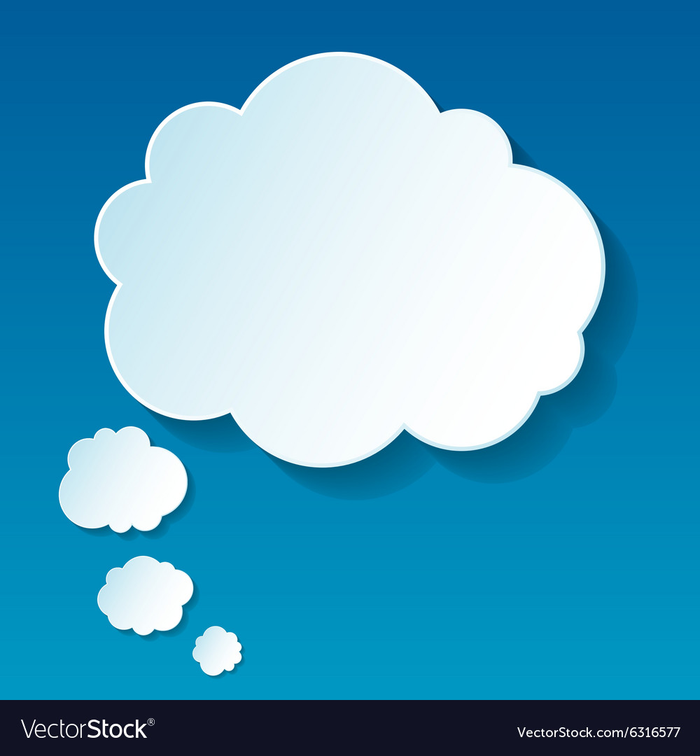 New cloud thoughts vector image