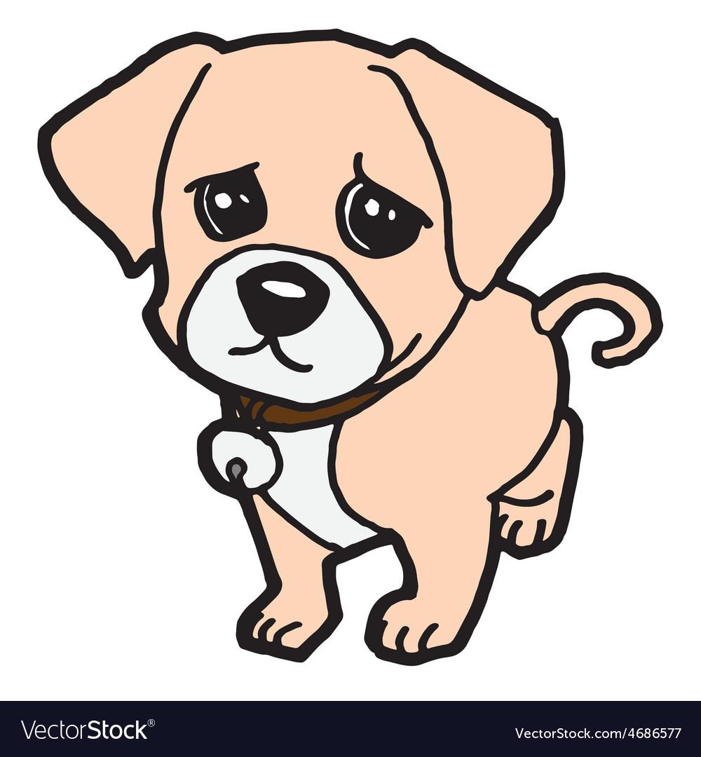 sad puppy royalty free vector image vectorstock rh vectorstock com poppy vector puppy vector outline