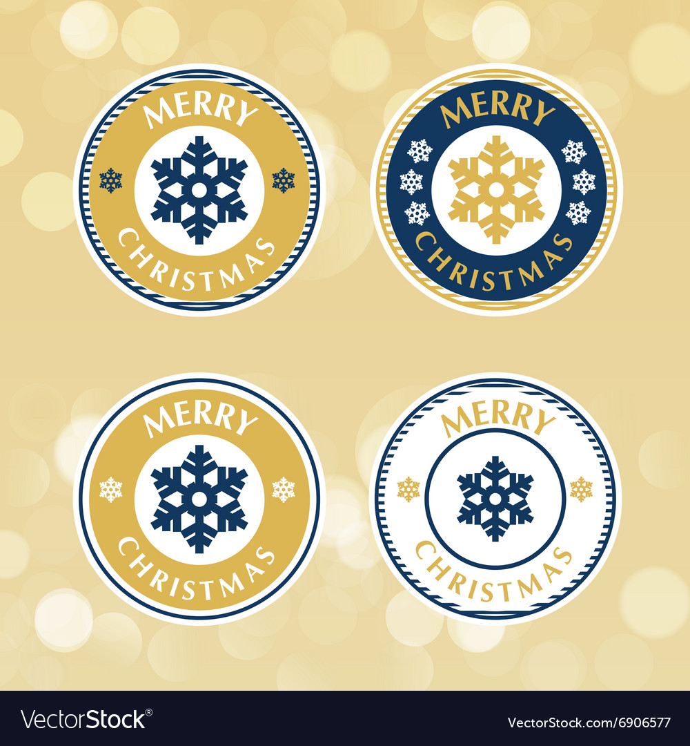 Set christmas badges and labels
