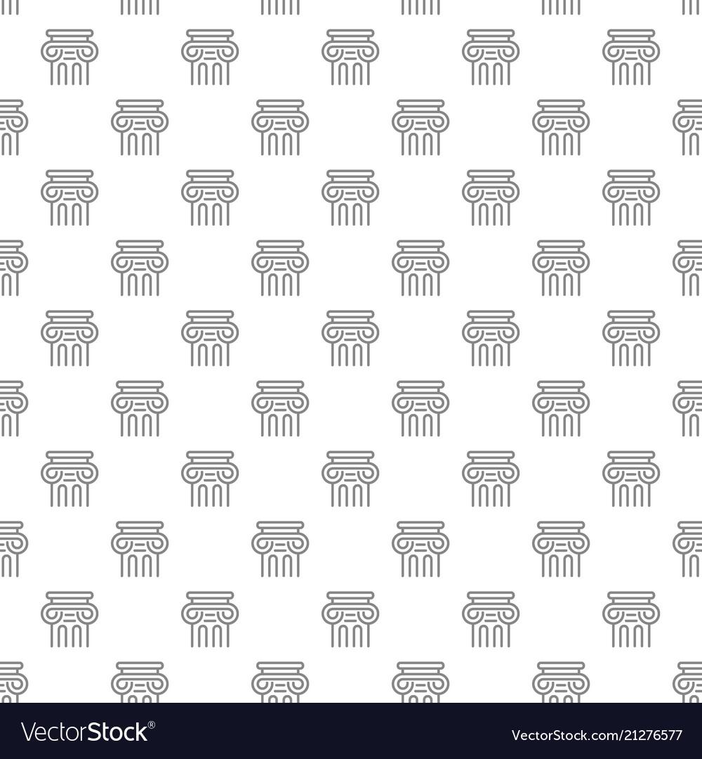 Simple ancient column seamless pattern