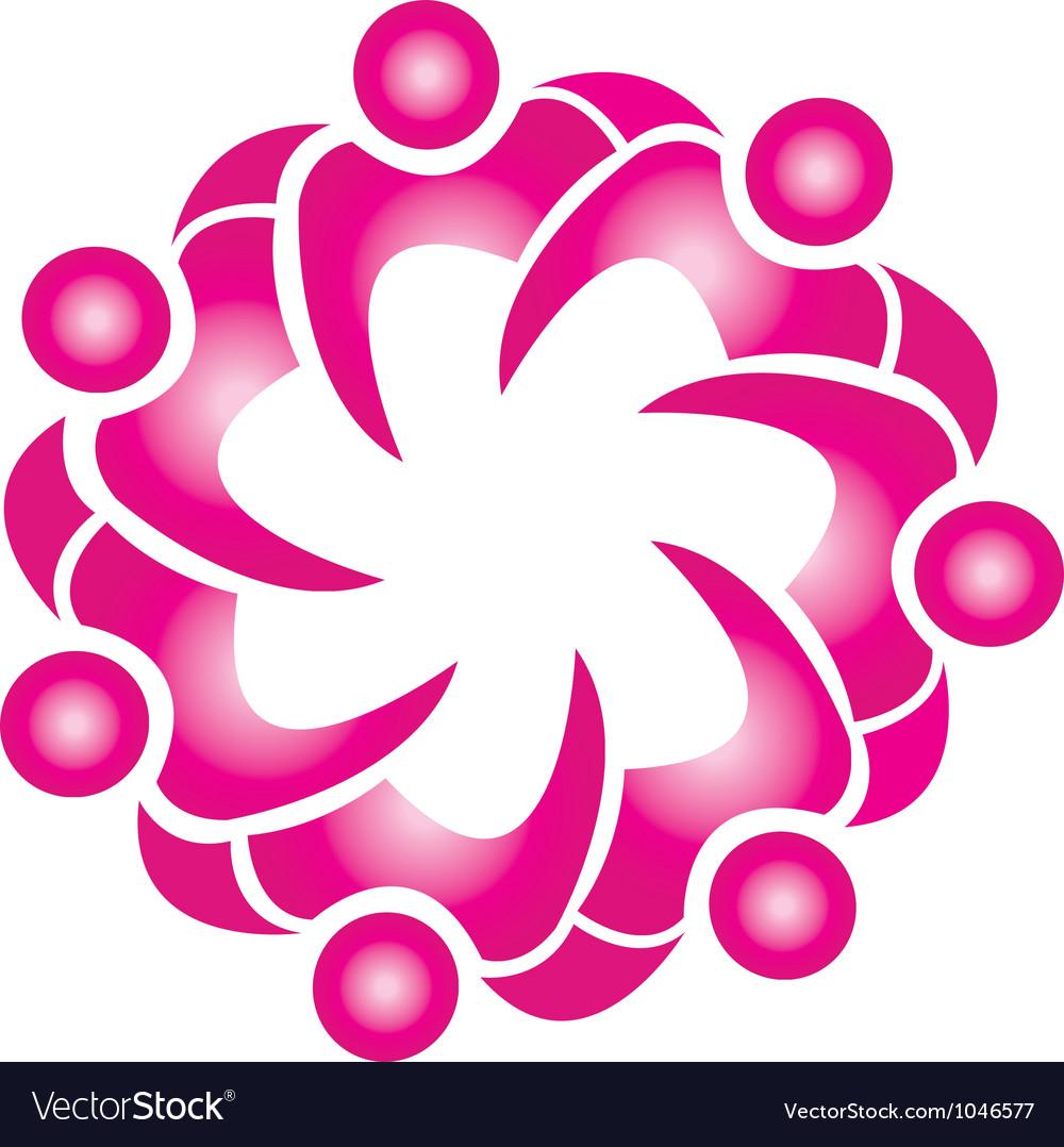 Teamwork lotus flower shape logo royalty free vector image teamwork lotus flower shape logo vector image mightylinksfo