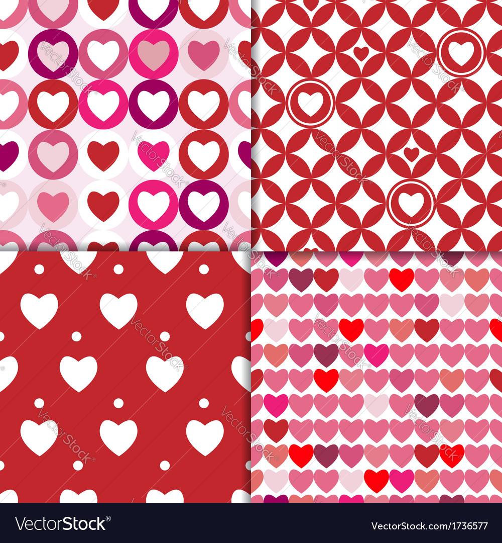 Valentine patterns pink