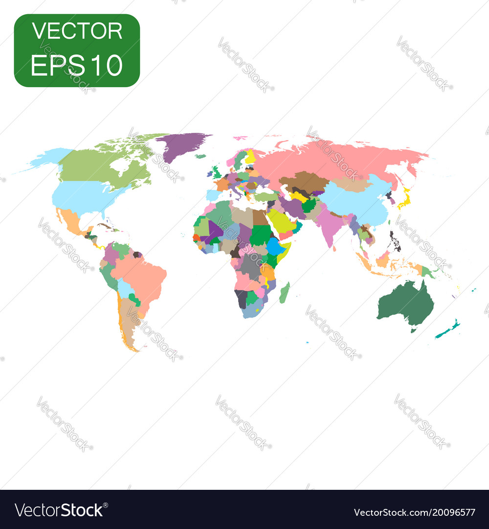 World map colorful political icon business vector image gumiabroncs Choice Image