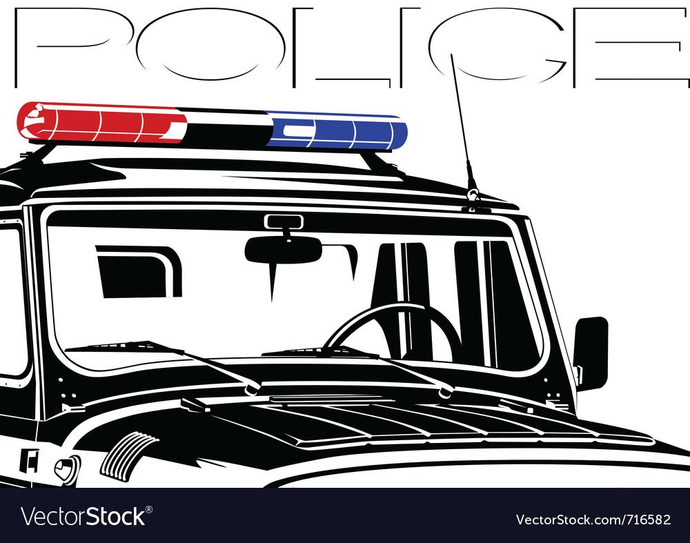 Beacon police officer vector image