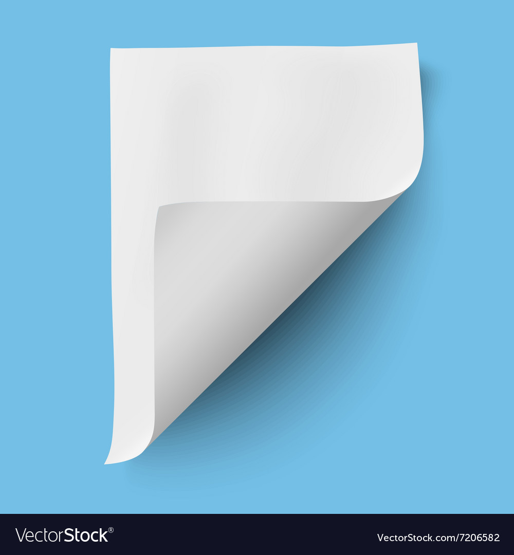 Empty paper sheet isolated vector image