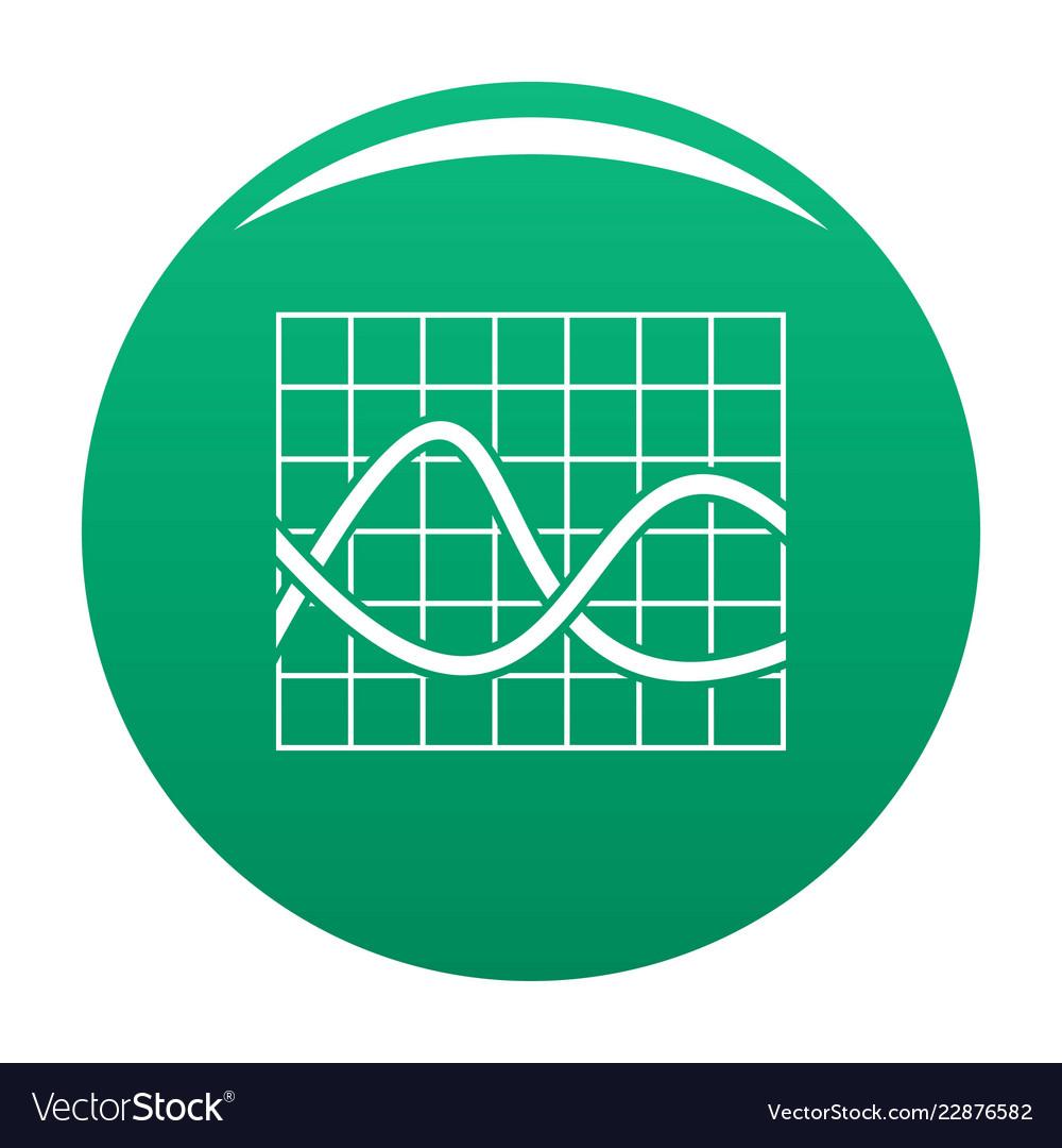 Finance chart icon green