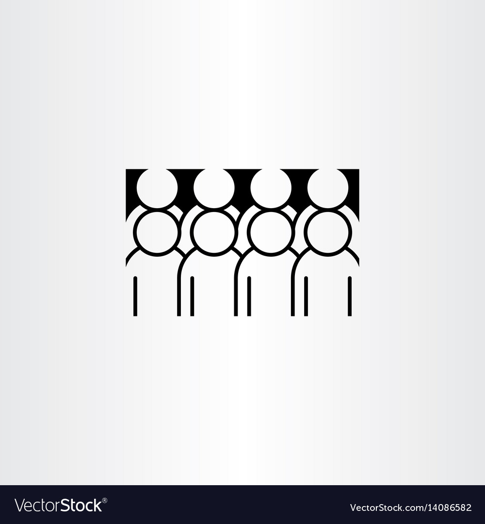 Group of people clipart icon