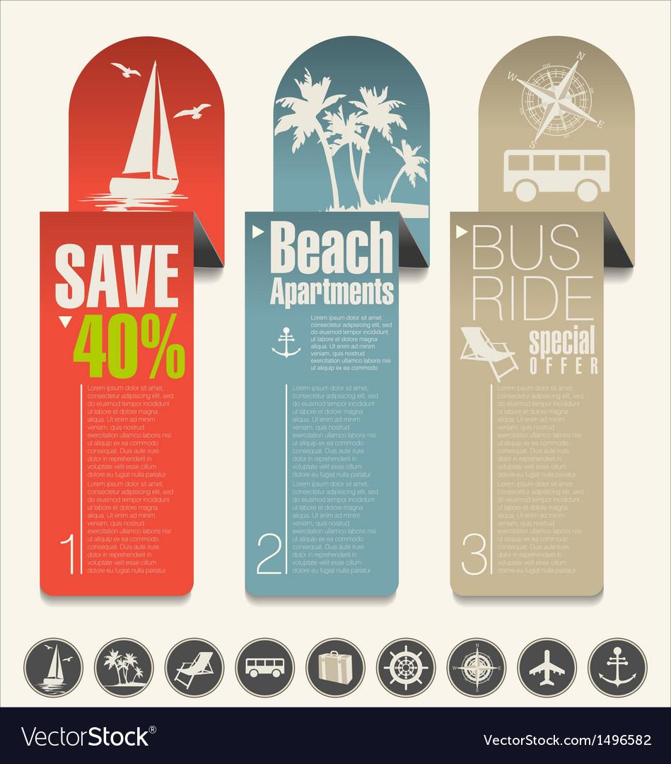 Modern design travel banner