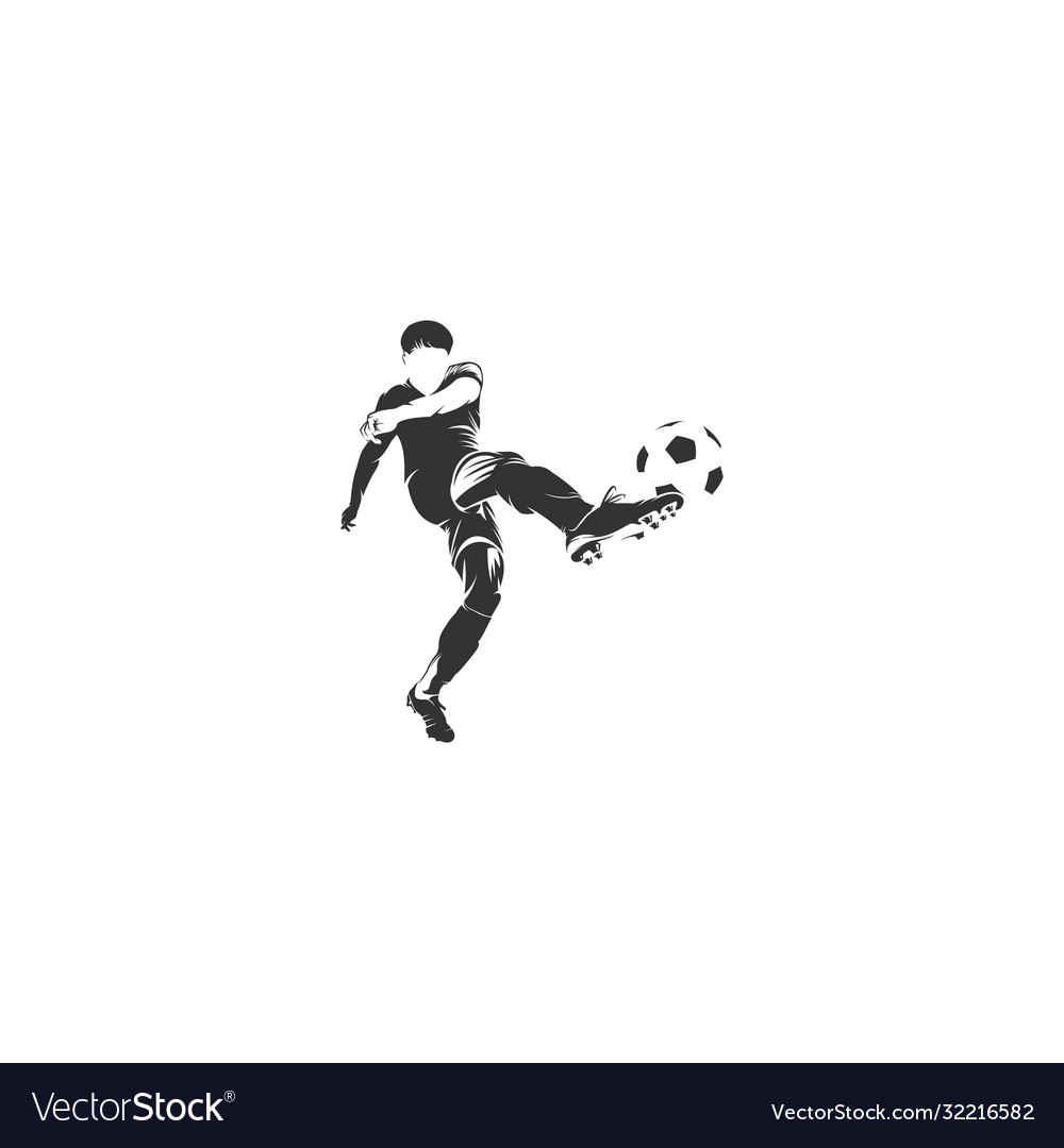 Player football silhouette