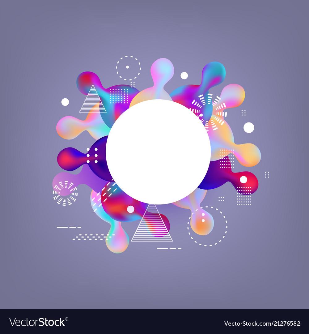 Trendy vibrant gradient background template