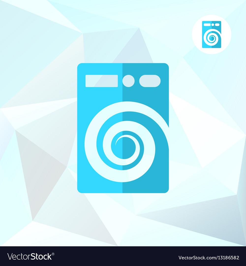 Washer machine logo on mosaic background