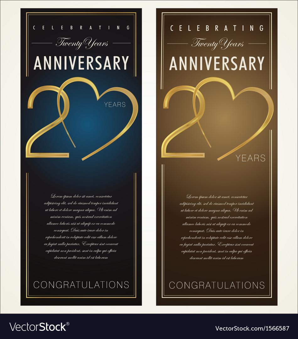 20 years Anniversary banner