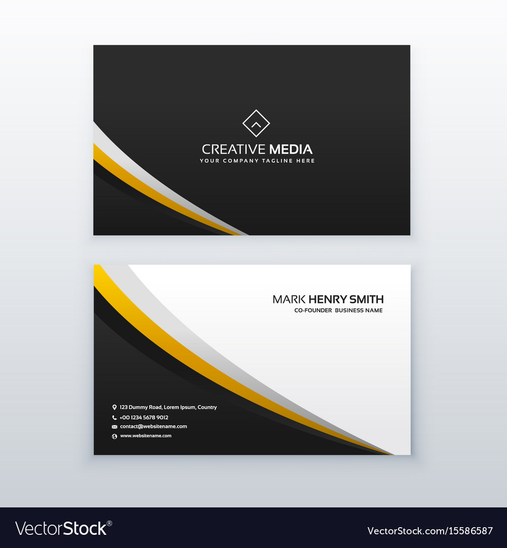 Business card template design in simple style vector image wajeb Images