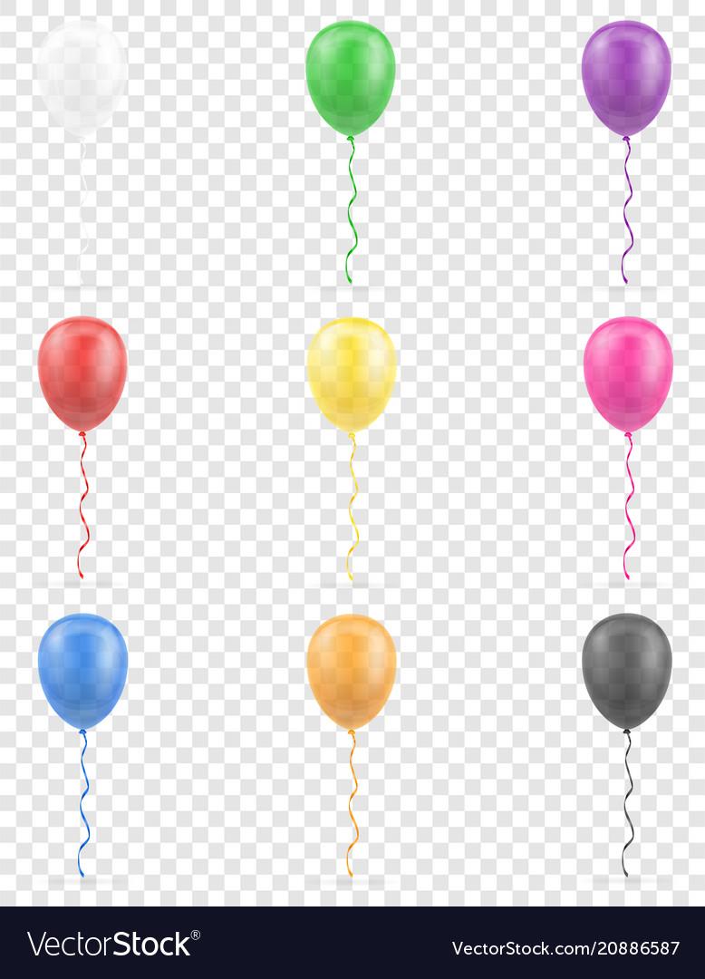 Celebratory transparent balloons pumped helium