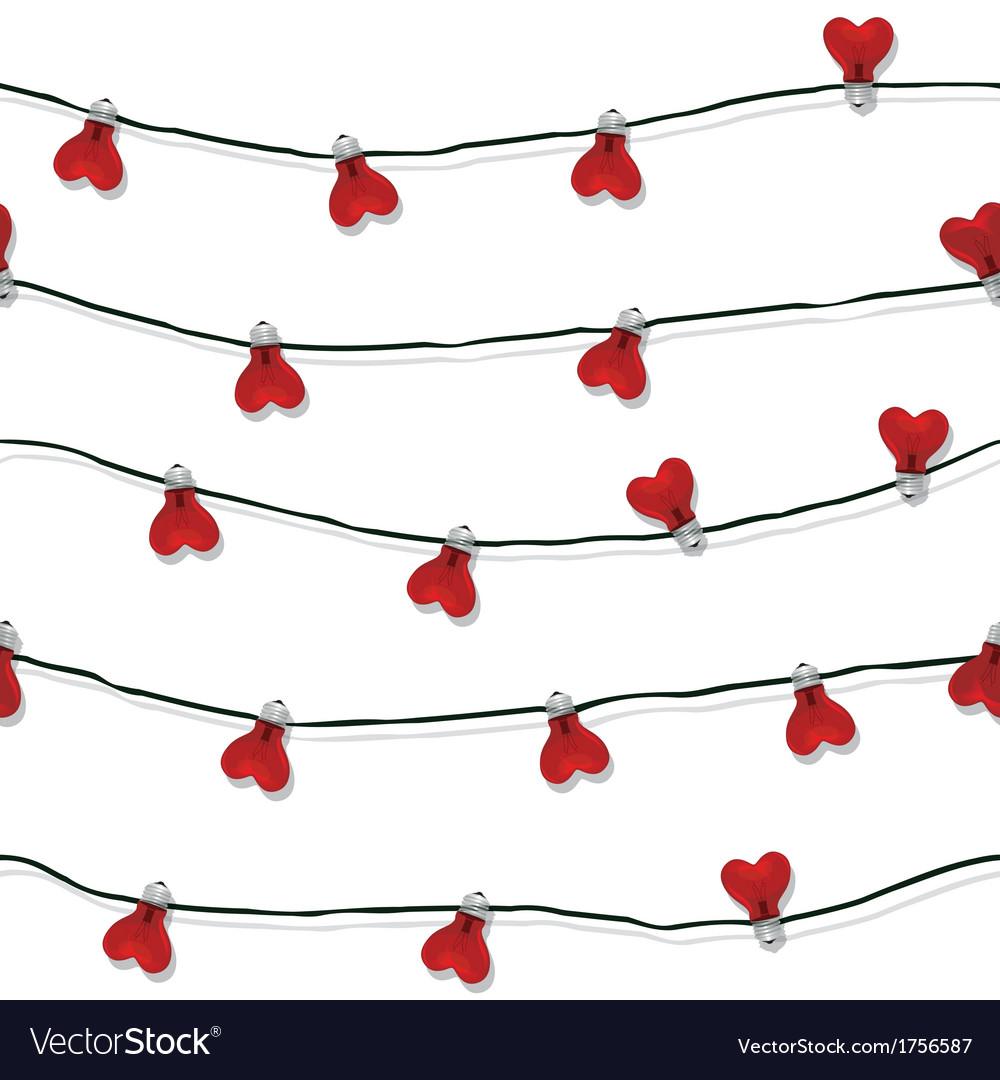 Heart seamless love light bulb wedding