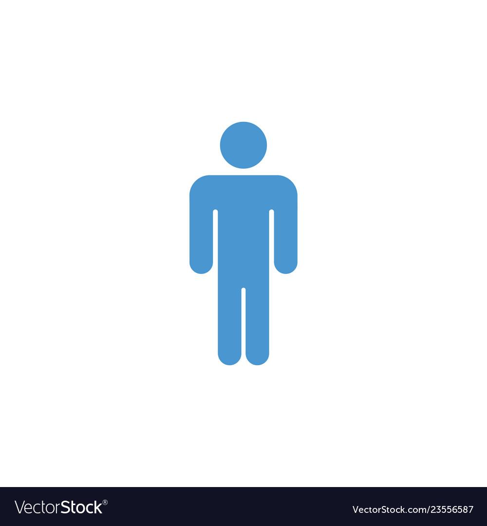 Male icon graphic design template