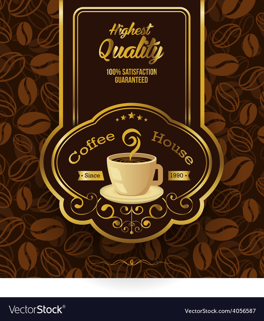 Retro Vintage Coffee Background with Label