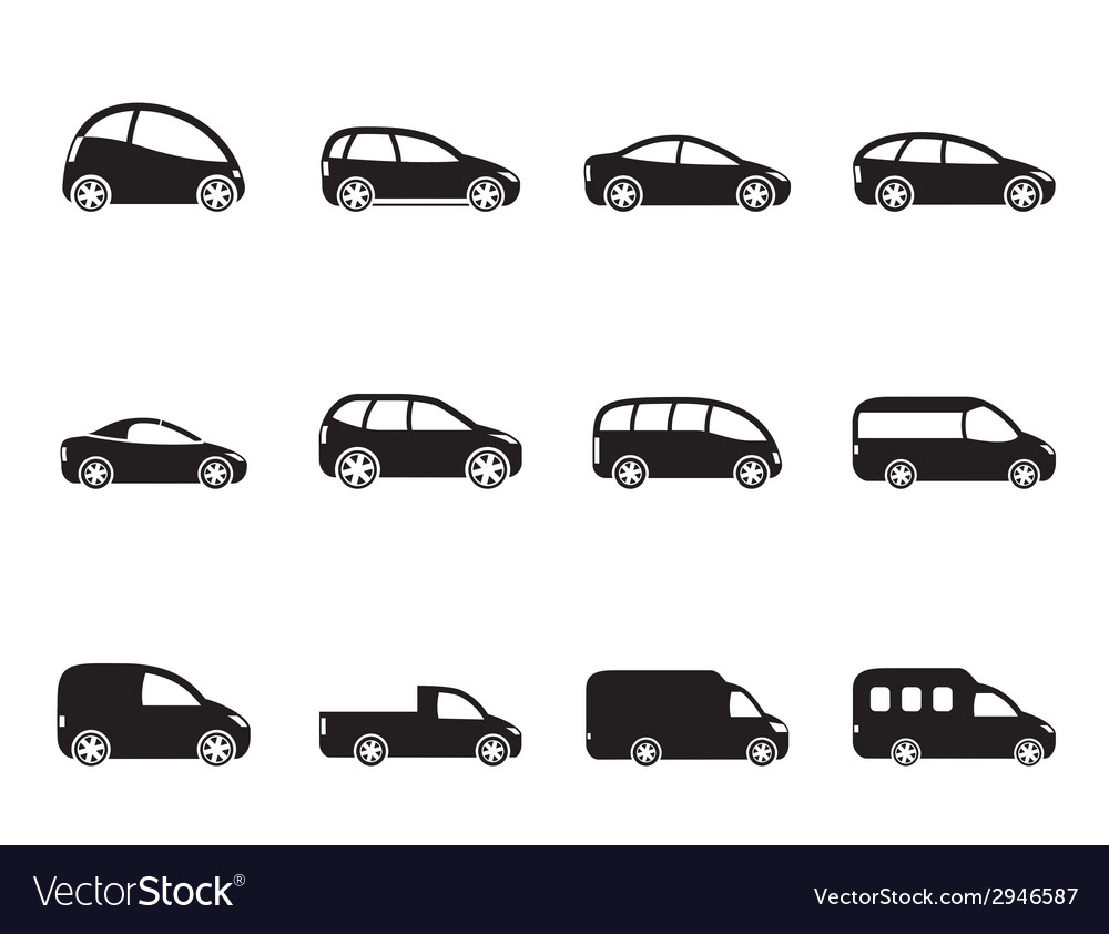 Different Types Of Cars >> Silhouette Different Types Of Cars Icons