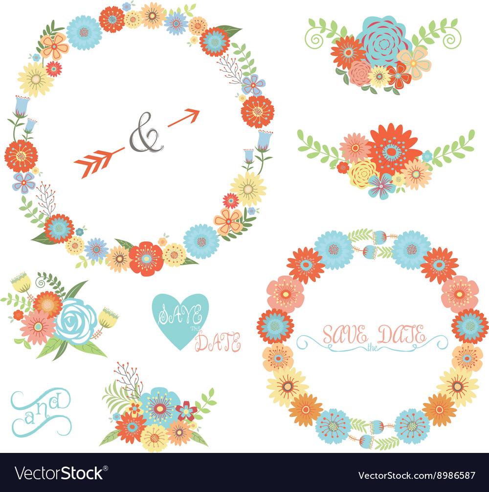 Wedding Flower Elements set