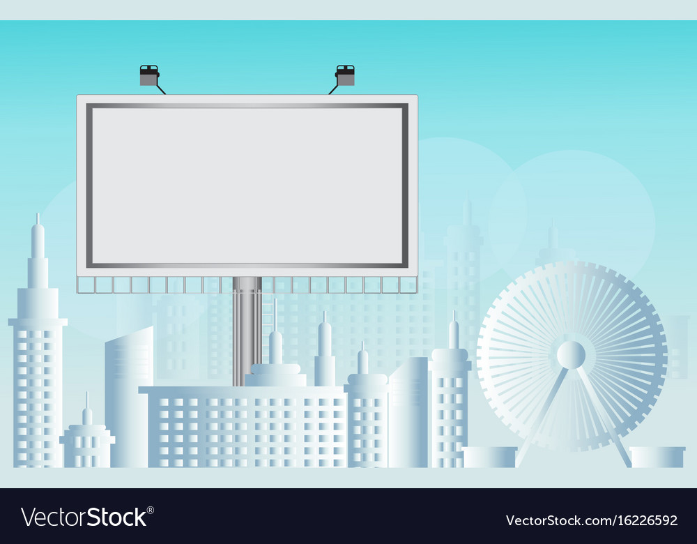 Billboard advertisement commercial blank
