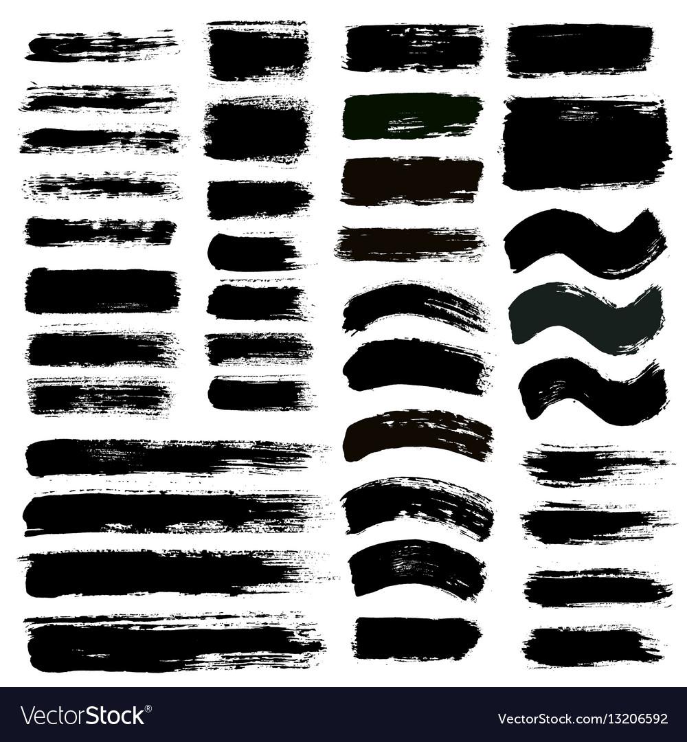 Brush strokes set 12