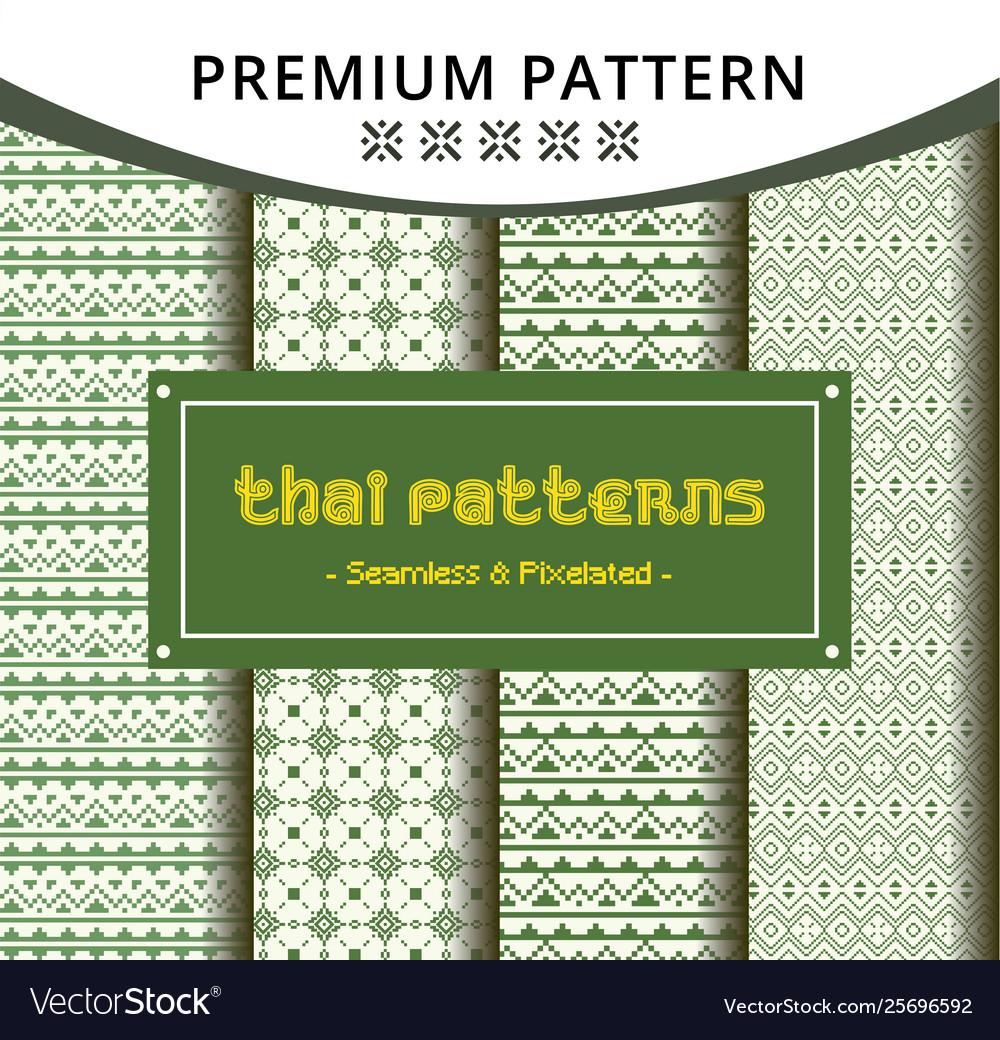Creative seamless traditional thai pattern