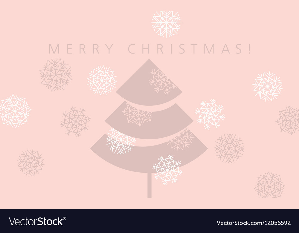 Elegant pale rosy color christmas background xmas vector image