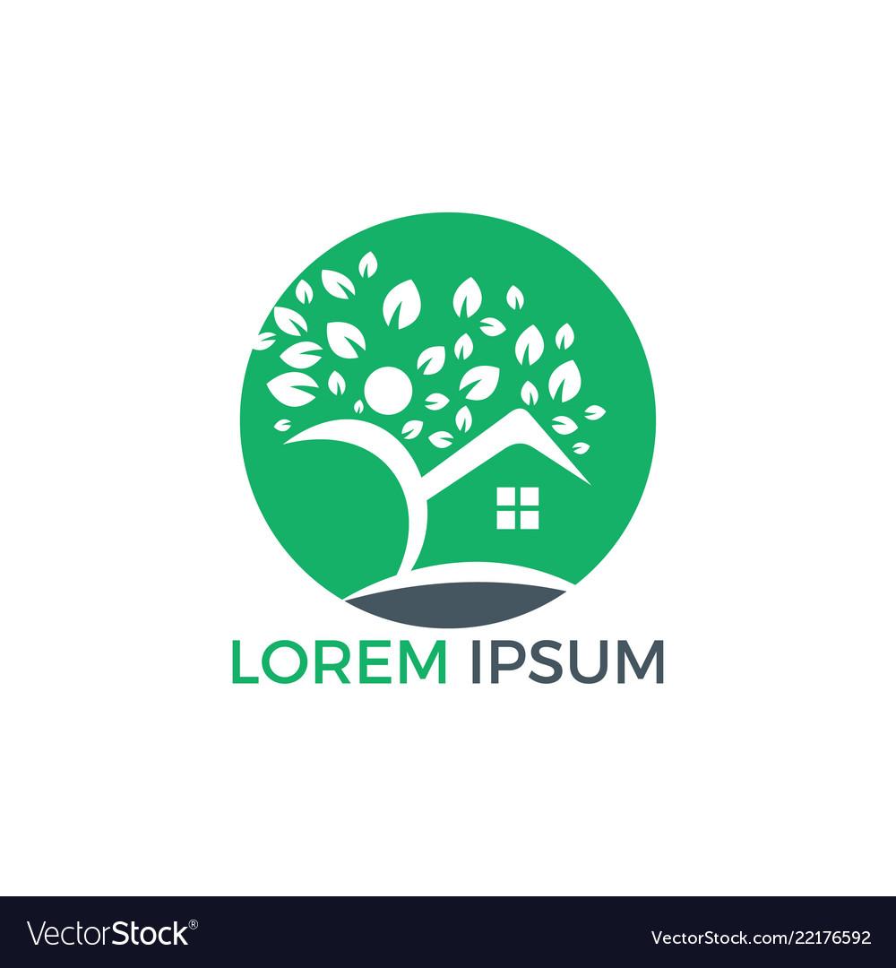 House and human logo design
