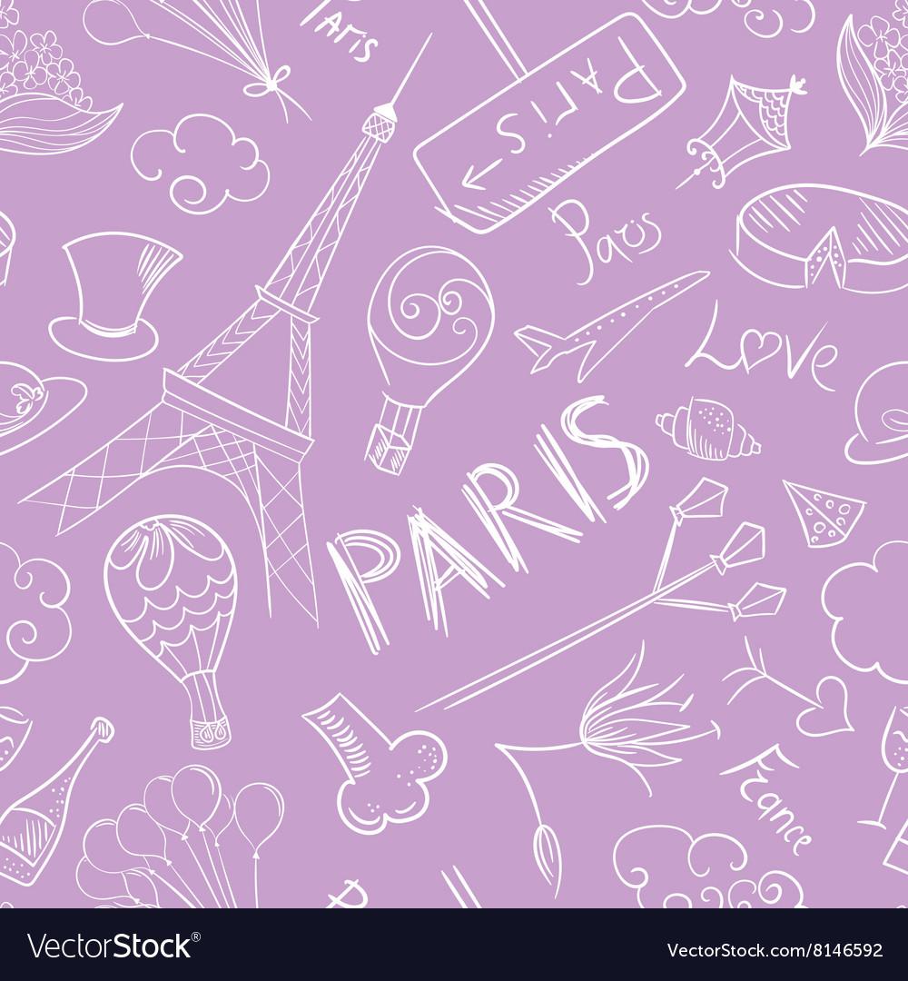 Paris Sketch Pattern