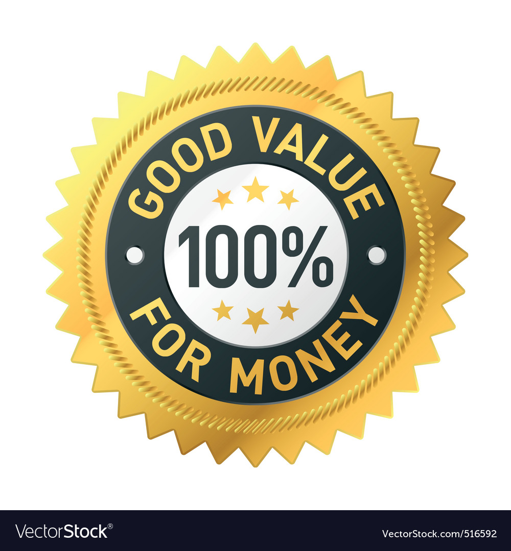 Quality sticker vector image