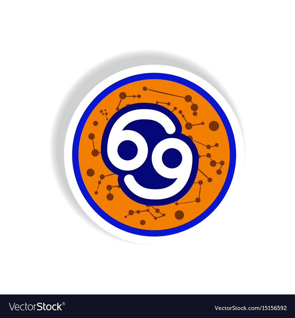 Stylish icon in paper sticker style zodiac sign vector image on VectorStock