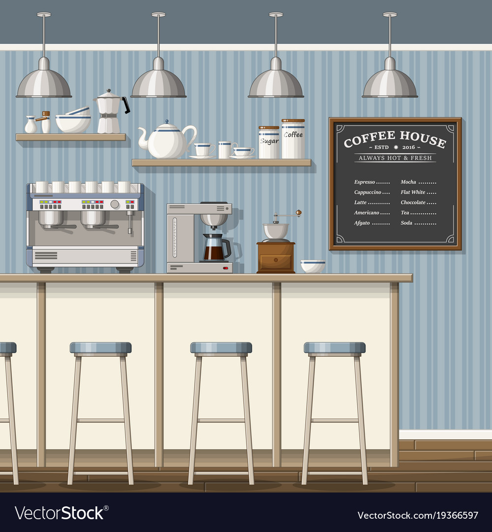A classic coffee shop Royalty Free Vector Image