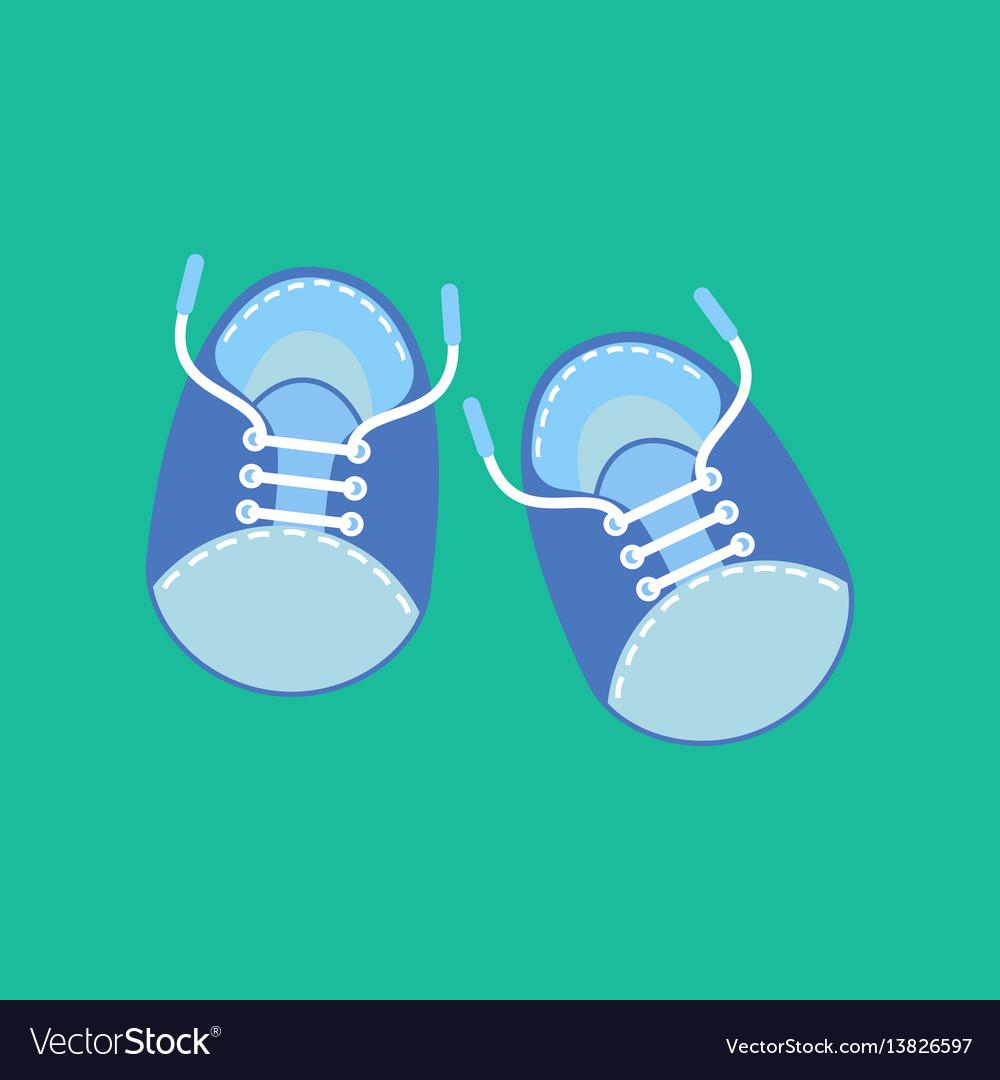 Baby Boy Shoes Royalty Free Vector Image Vectorstock