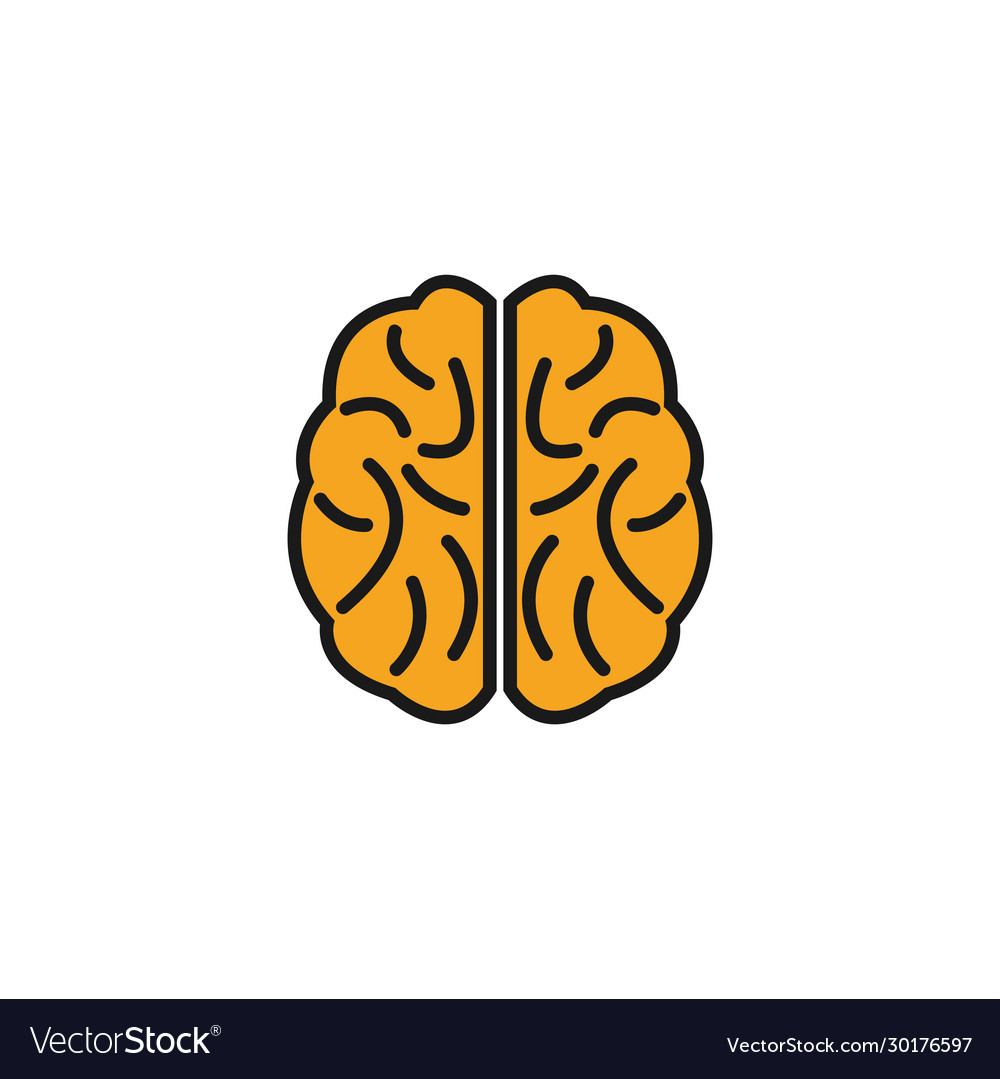 Brain graphic design template isolated