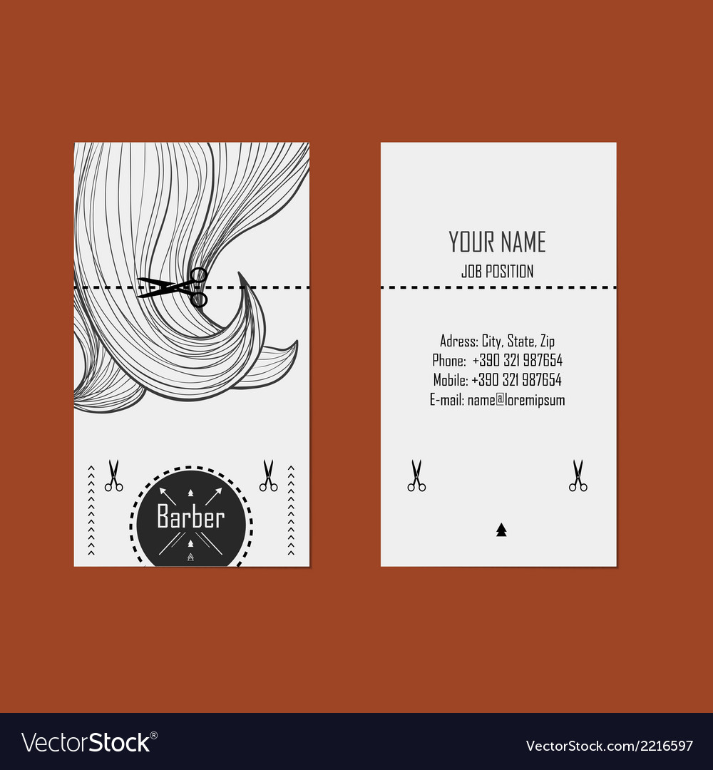 Business card hairdresser barber 2 royalty free vector image business card hairdresser barber 2 vector image reheart Choice Image