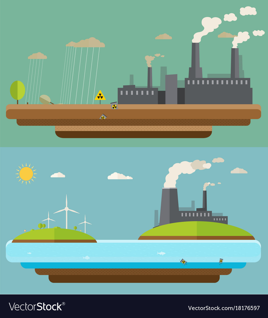 Ecology concept green energy and environment