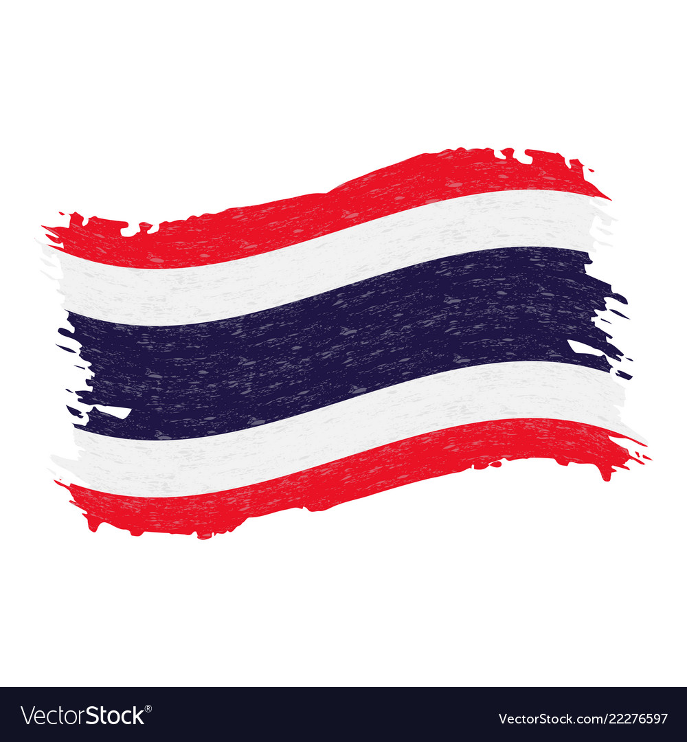 Flag of thailand grunge abstract brush stroke