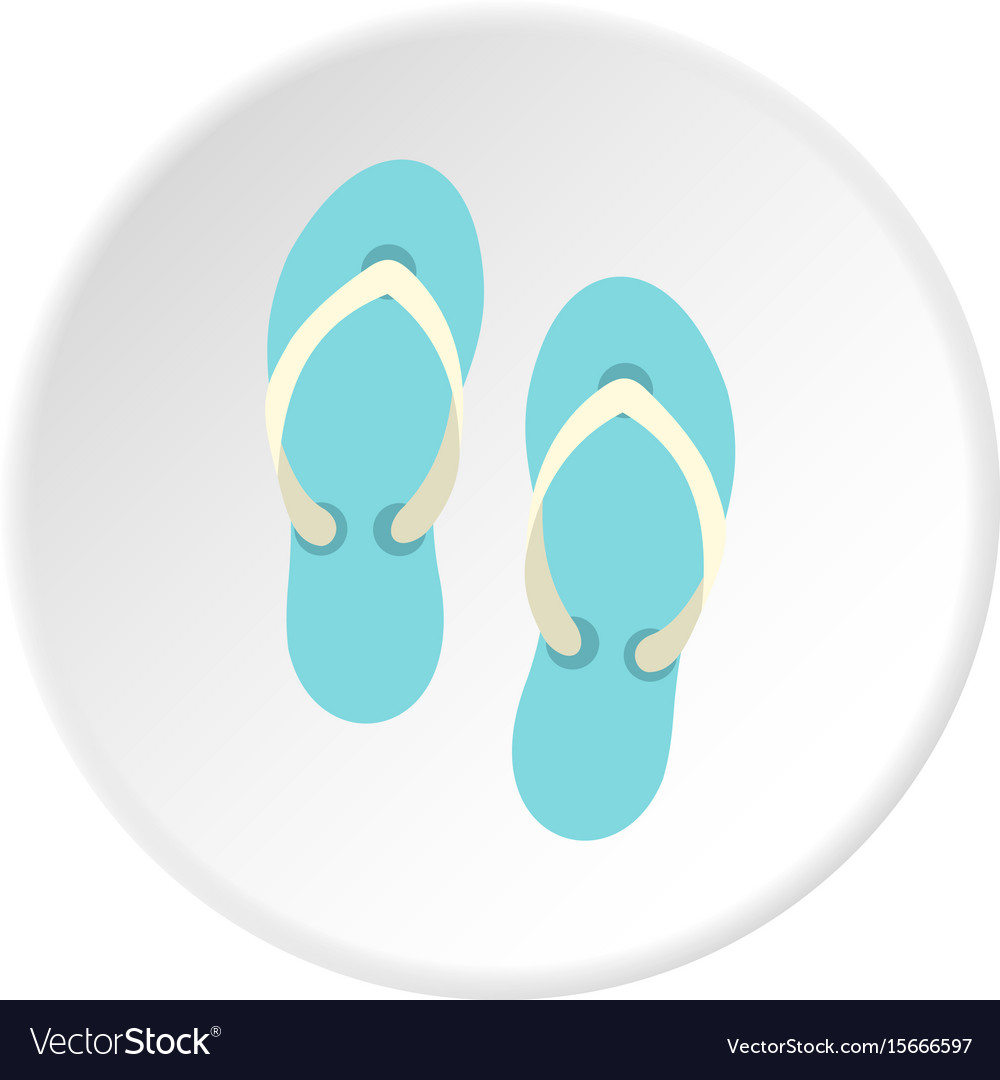 fb7625957268 Flip flop sandals icon circle Royalty Free Vector Image
