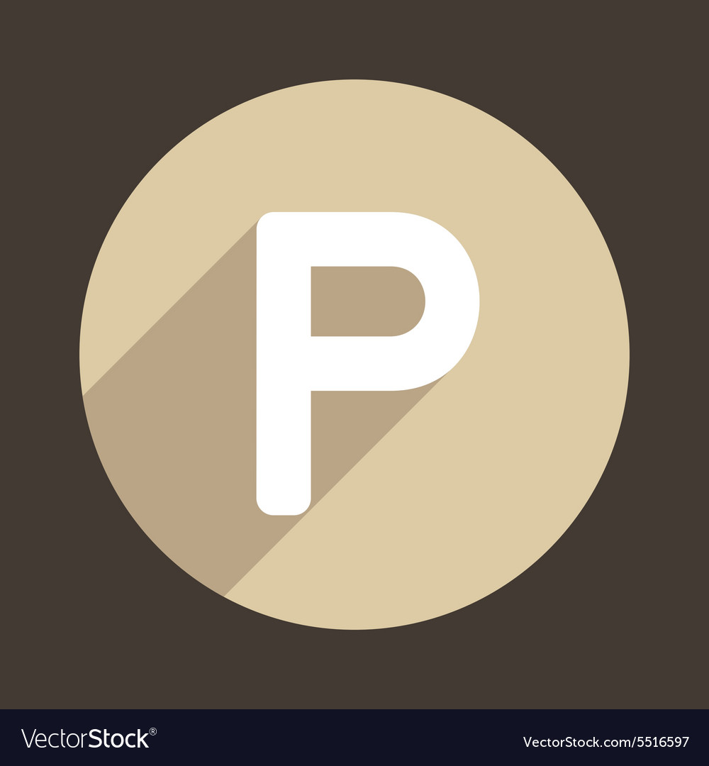 Letter P Logo Flat Icon Style