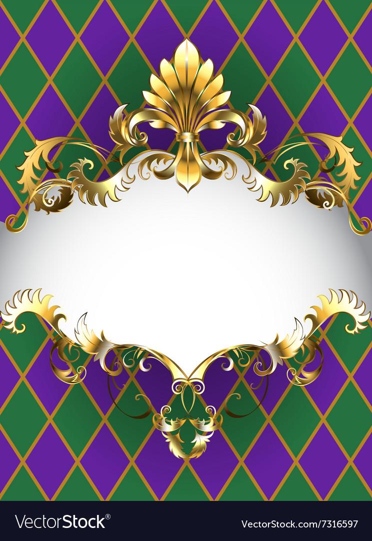 Luxury Banner Mardi Gras vector image
